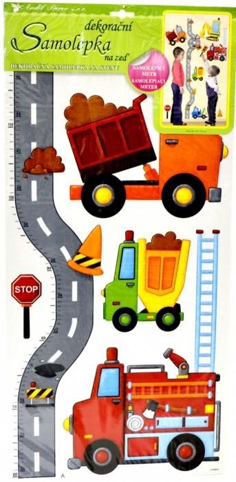Room Deco A10098 Samolepící dekorace dětský metr silnice s auty, rozměry 140x33 cm