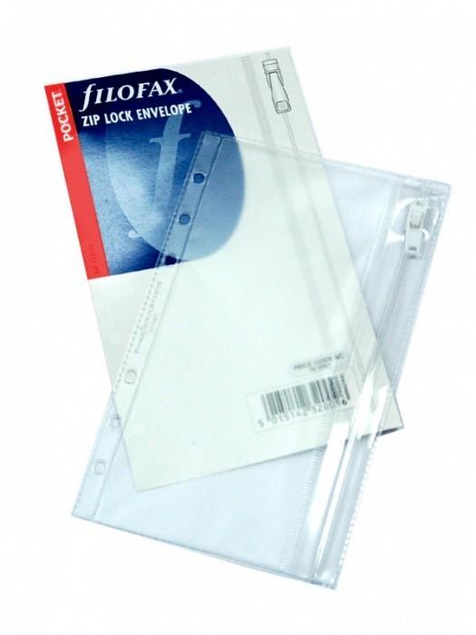 Náplň Filofax - Kapesní - Obálka průhledná se zipem