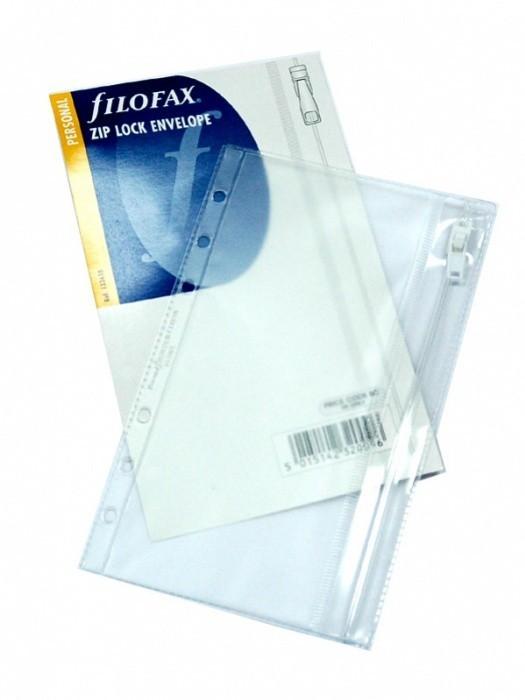 Náplň Filofax - Osobní - Obálka průhledná se zipem