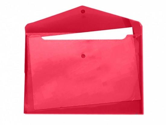 Desky s drukem a klopou A4 červené