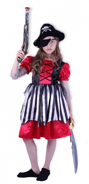 Karnevalový kostým pirátka - 012141