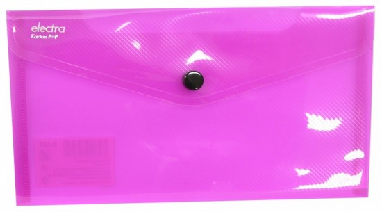 Karton P+P Psaníčko s drukem DL Electra růžová 2-325