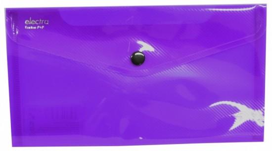 Karton P+P Psaníčko s drukem DL Electra fialová 2-328