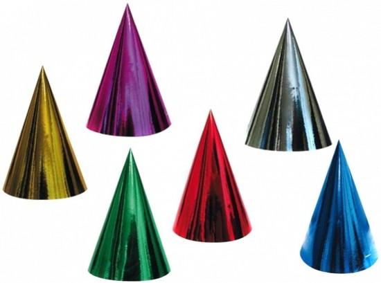 Anděl Karnevalový klobouček hologramový 6 ks v balení - 9006