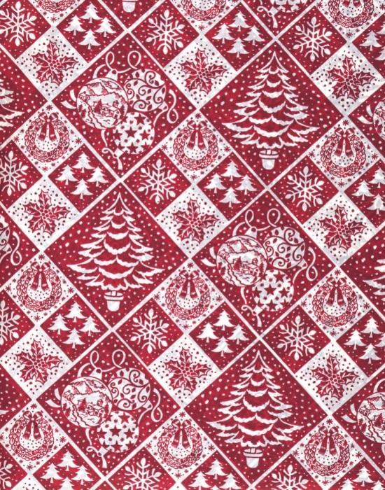 Vánoční papír - Červená jedle č.15 - Lika - 150 ks