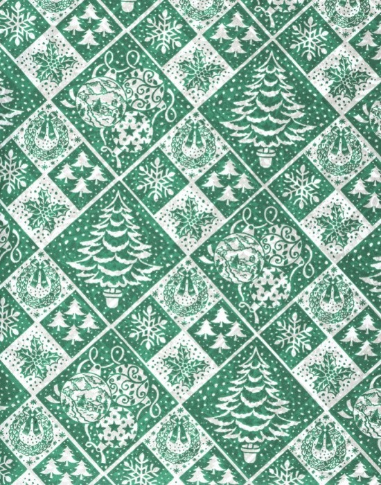 Vánoční papír - Zelená jedle č.16 - Lika - 150 ks
