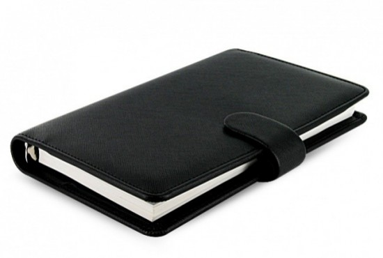 Filofax Diář Filofax Saffiano - Compact - černá - 022469