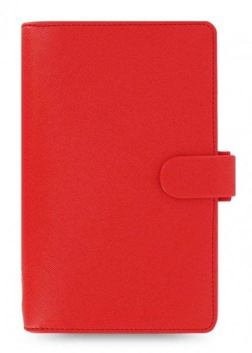 Filofax Diář Filofax Compact Saffiano - červená 022472