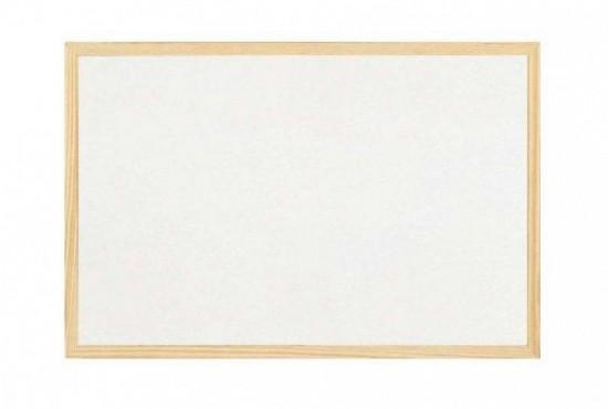 Magnetická tabule bílá, 60 x 40 cm - dřevěný rám