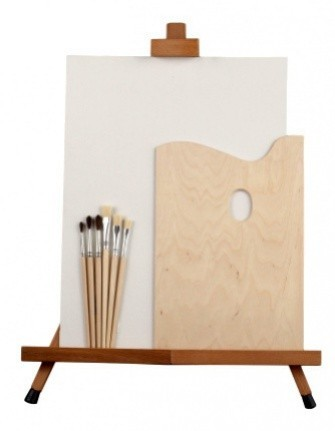 Výtvarný set A/DP - stojan, plátno paleta, štětce