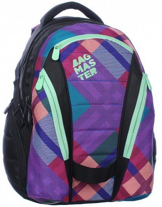 Bagmaster Studentský batoh Bag 0115 A Pink/Green + Pero Frixion ZDARMA