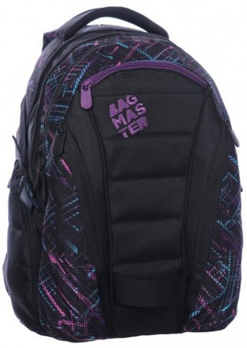 Bagmaster Studentský batoh Bag 0115 C Black/Violet + Pero Frixion ZDARMA