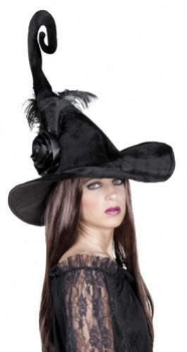 Černý čarodejnický klobouk Duvessa - ZHL 96962
