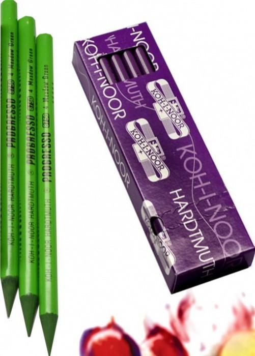 Tužka pastelová v laku KOH-I-NOOR 8750004007KS - zeleň luční