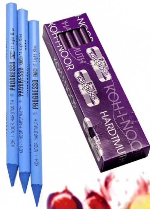Tužka pastelová v laku 8750017007KS KOH-I-NOOR - modř světlá