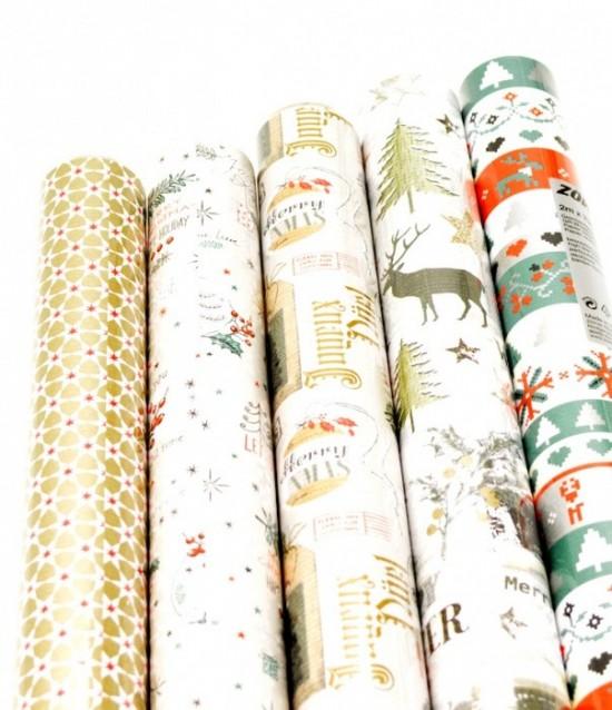 Vánoční papír - Graphical Nature - 2 x 0,7 m - 30 ks