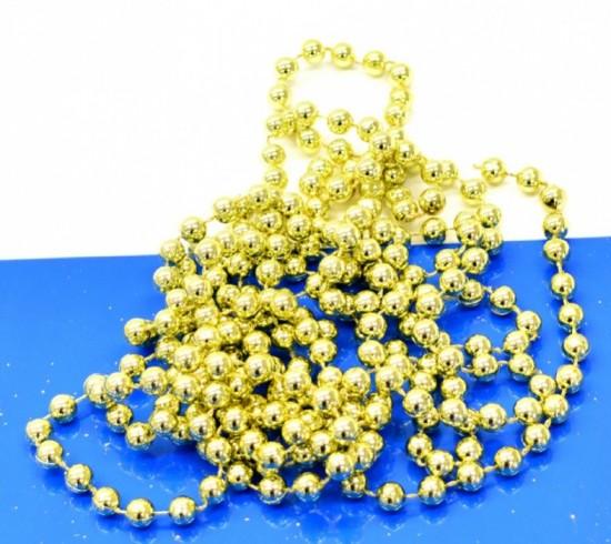 Anděl Vánoční řetěz z kuliček - zlatý - 4614
