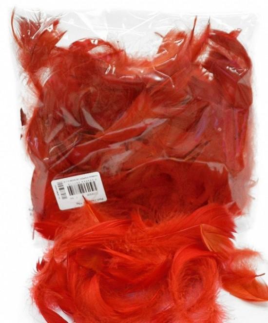 Peří - červené 10 g - 229008