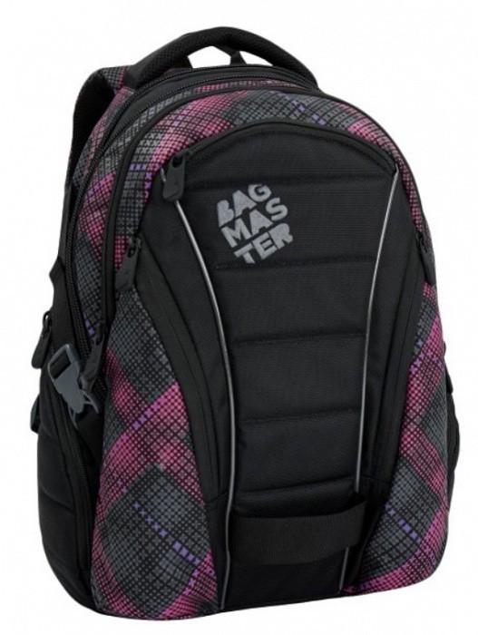 Studentský batoh Bagmaster - Bag 6 E - Black/Pink/Violet + Pero Frixion ZDARMA