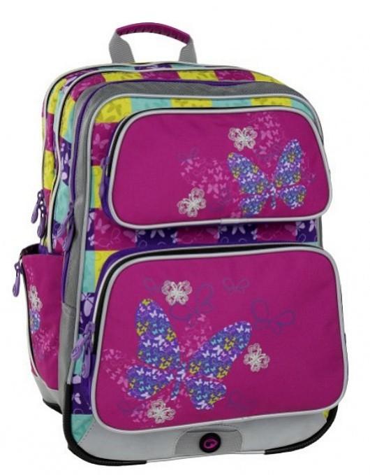 Školní batoh Bagmaster - Galaxy 6 B - Pink/Blue/Yellow + Pero Frixion ZDARMA