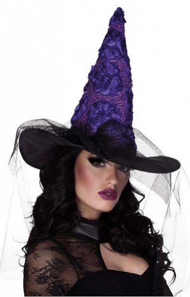 Klobouk čarodějnický se závojem - dospělý - 97000