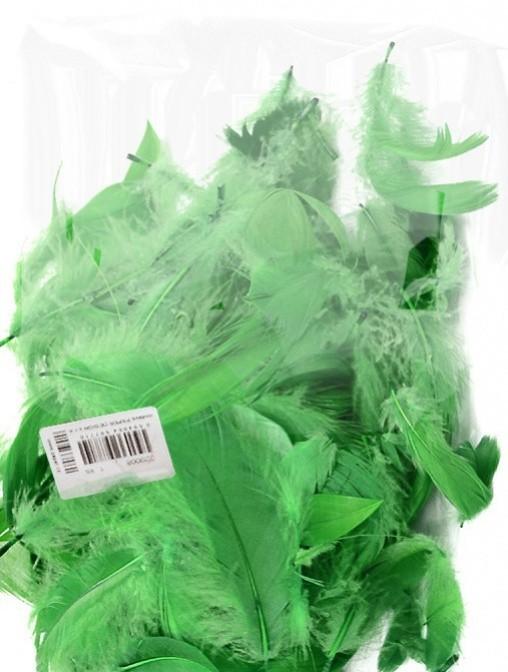 Peří - zelené 10 g - 229013