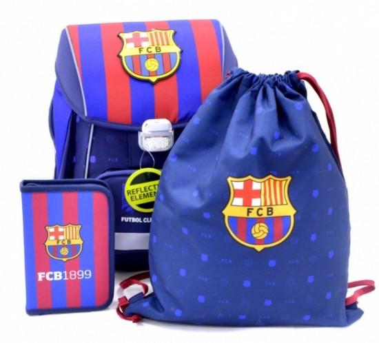 Oxybag Školní aktovka set PREMIUM FC Barcelona 3-dílný