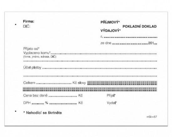 MSK 57 Univerzální pokladní doklad