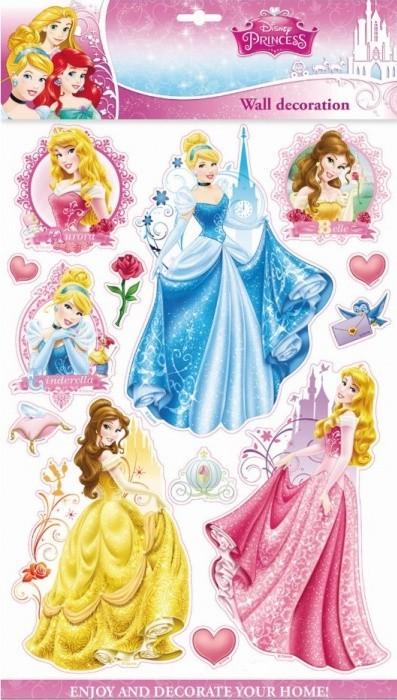 Anděl Samolepky na zeď - 3D - Disney - Princezny - 06624