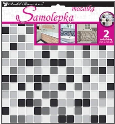 Anděl Samolepka na zeď - mozaika plastická - imitace obkladů - 2 archy 25,5 x 25,5 cm - 10204