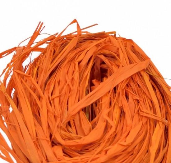 Lýko přírodní Raphia - Tmavě oranžové - 50 g - 64106