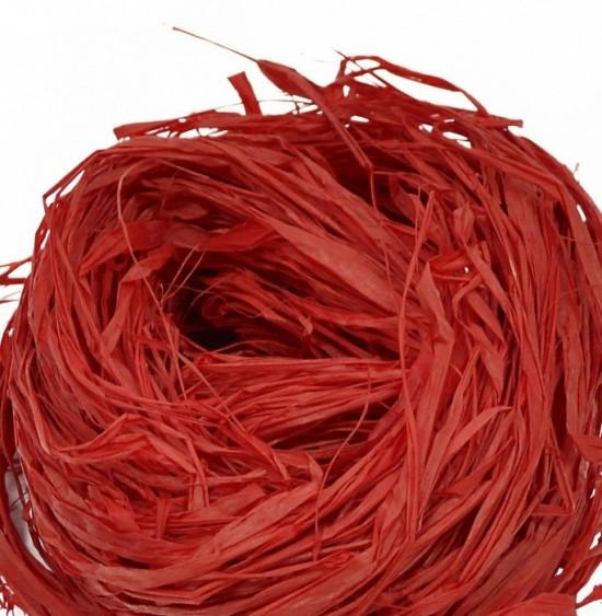 Lýko přírodní Raphia - Červené - 50 g - 64112
