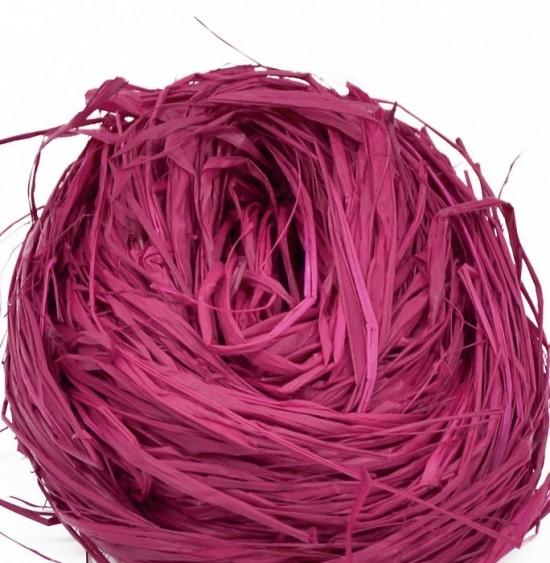 Lýko přírodní Raphia - Tmavě růžové - 50 g - 64122