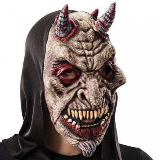Maska čerta s kapucí latexová ZC 01464