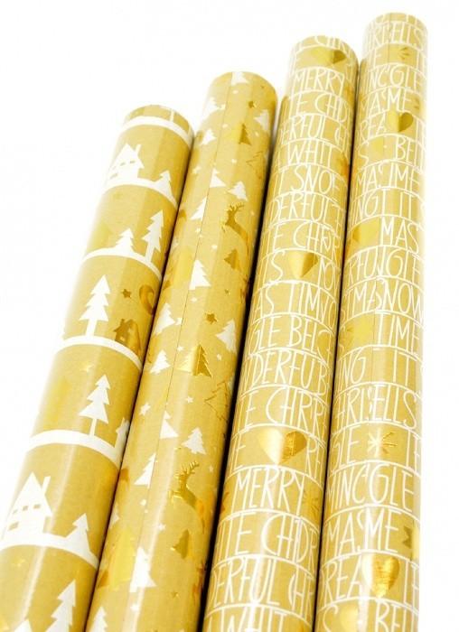 Vánoční balicí papír - Shining Moments 1,5 x 0,7 m - 30 ks