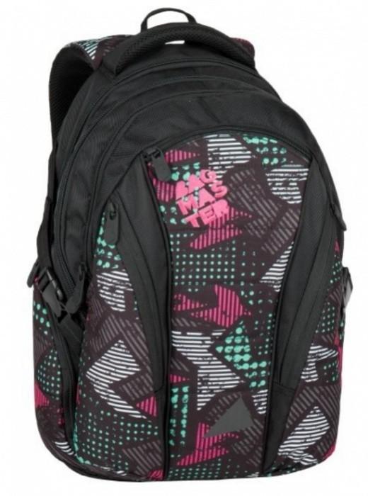 Studentský batoh Bagmaster - Black/Pink/Grey - BAG - 7 B + Pero Frixion ZDARMA