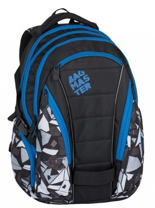 7aeb02c8b1 Studentský batoh Bagmaster - Black Grey Blue - BAG - 7 H