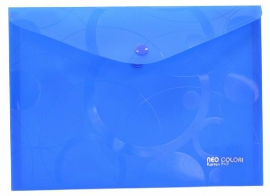 Karton P+P Psaníčko s drukem A5 - Neo Colori - modrá - 2-452