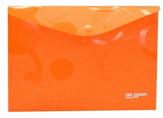 Karton P+P Psaníčko s drukem A5 - Neo Colori - oranžová - 2-451