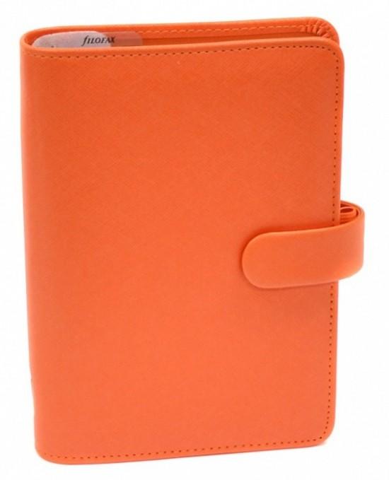 Filofax Diář Filofax - Saffiano - osobní - oranžová - 022587