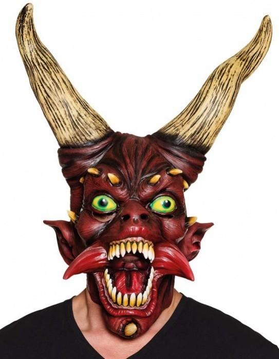 Latexová maska ďábla - 97559