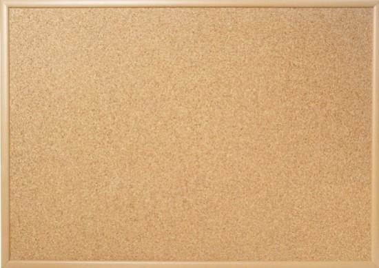 Officeline Tabule korková 80 x 50 cm - dřevěný rám