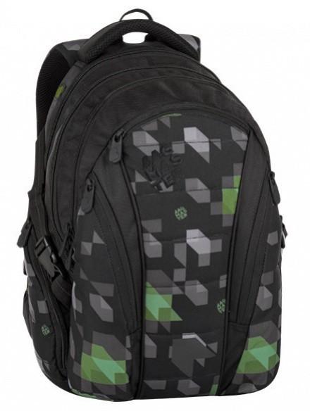 Studentský batoh Bagmaster - Bag 8 G - Black / Green / Gray + Pero Frixion ZDARMA