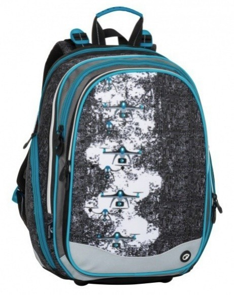 Školní batoh Bagmaster - Element 8 B - Black / Gray / Blue + Pero Frixion ZDARMA