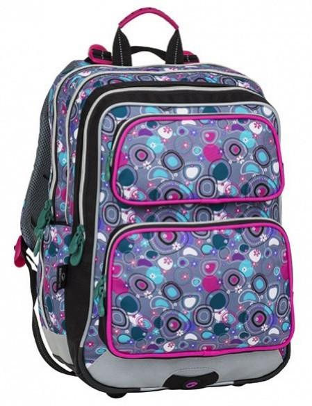 Školní batoh Bagmaster - Galaxy 8 A - Pink / Gray / Green + Pero Frixion ZDARMA