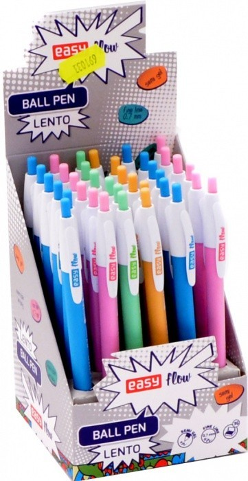 6362bfa91 Kuličkové pero - Lento - mix barev - 0,7 mm - 36 ks - S923215.Kuličkové  pero, stiskací mechanismus, plastové neprůhledné tělo.Šíře stopy 0,7 mmV  balení 36 ...