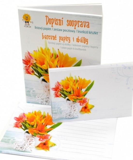MFP Dopisní souprava Lux 5+10 - barevná - Květy 4 - 5550257