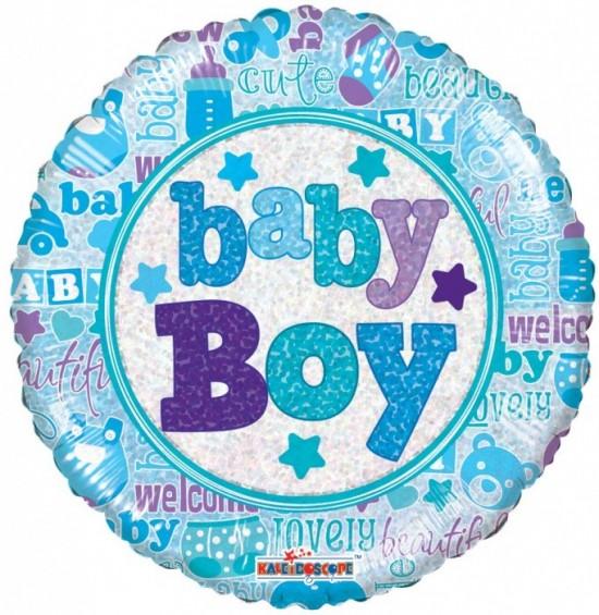 Smart Ballons Nafukovací balónek - Kruh - Baby Boy - 45 cm - K19544-18S
