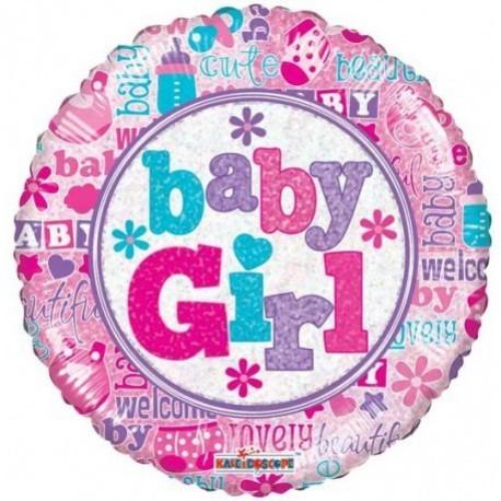 Smart Ballons Nafukovací balónek - Kruh - Baby Girl - 45 cm - K19545-18S