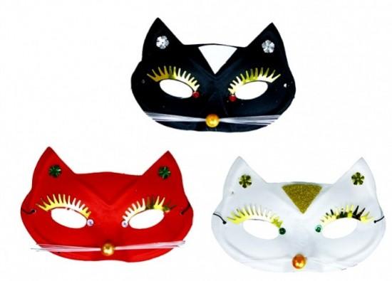 Maska - škraboška - Kočka 801707